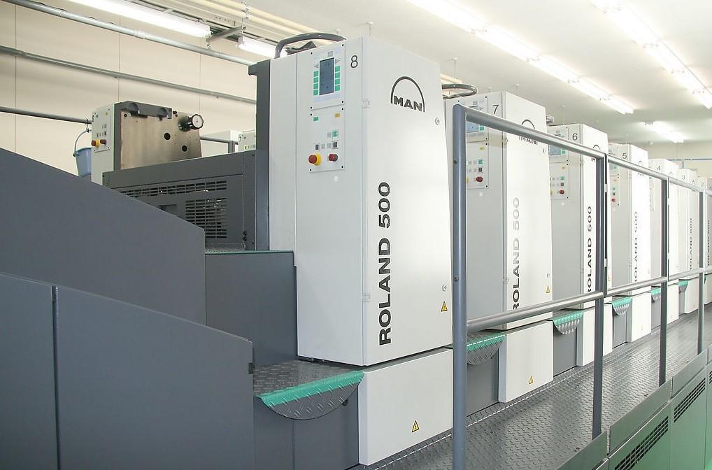 曼罗兰500胶印机加装UV1