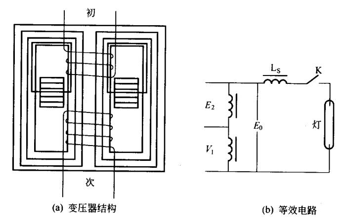 漏磁变压器的结构和等效电路